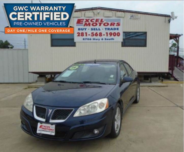 2009 Pontiac G6 for sale at Excel Motors in Houston TX