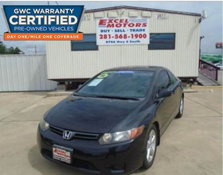 2008 Honda Civic for sale at Excel Motors in Houston TX