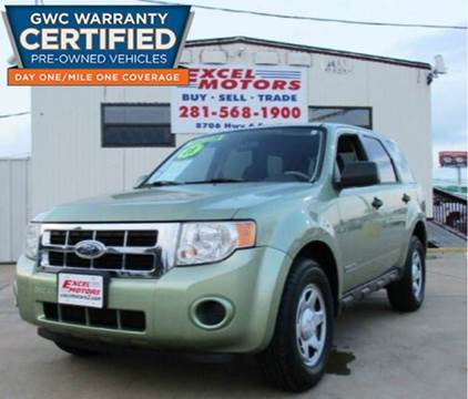 2008 Ford Escape for sale at Excel Motors in Houston TX