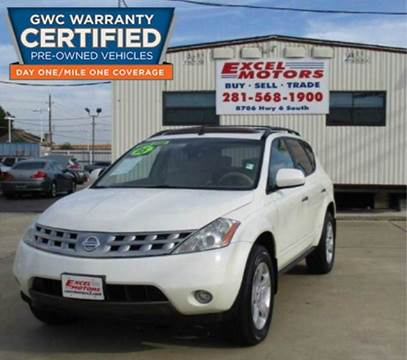 2005 Nissan Murano for sale at Excel Motors in Houston TX
