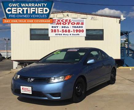 2006 Honda Civic for sale at Excel Motors in Houston TX