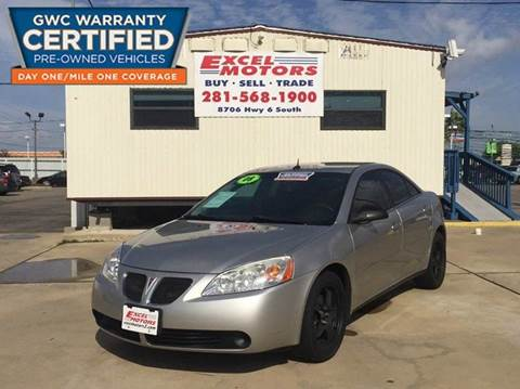 2008 Pontiac G6 for sale at Excel Motors in Houston TX