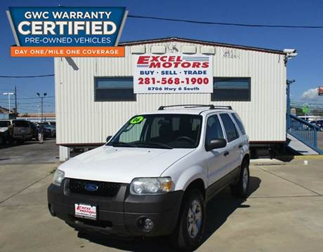 2006 Ford Escape for sale at Excel Motors in Houston TX