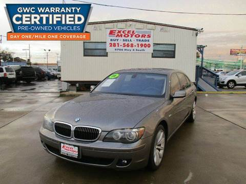 2008 BMW 7 Series for sale at Excel Motors in Houston TX