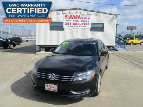 2012 Volkswagen Passat for sale at Excel Motors in Houston TX