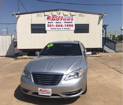 2012 Chrysler 200 for sale at Excel Motors in Houston TX