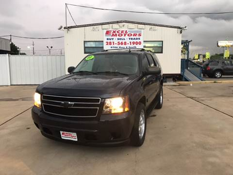 2007 Chevrolet Tahoe for sale at Excel Motors in Houston TX