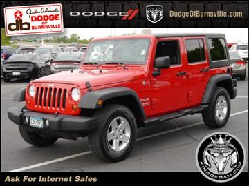 2012 Jeep Wrangler Unlimited for sale in Burnsville, MN