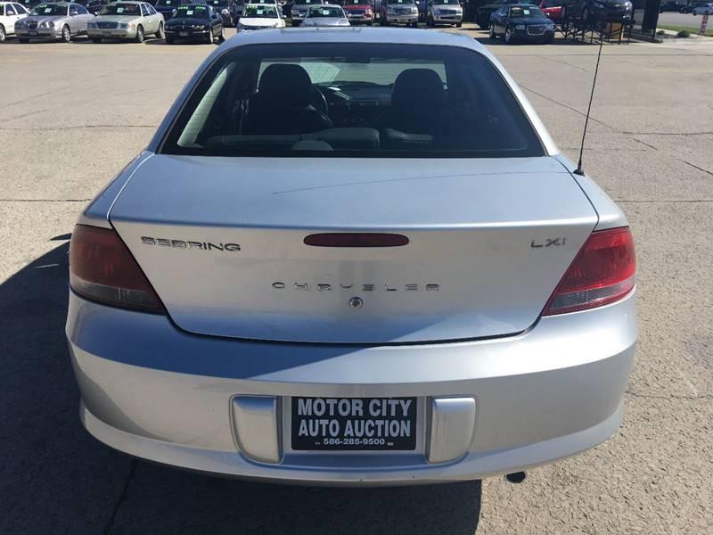 2002 chrysler sebring lxi 4dr sedan in fraser mi motor Motor city car auction