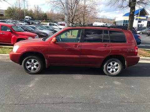 2003 Toyota Highlander for sale at Knoxville Wholesale in Knoxville TN