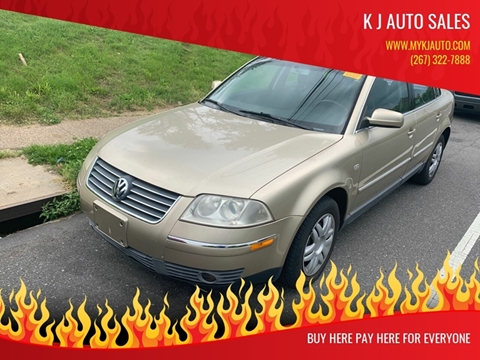 2002 Volkswagen Passat for sale at K J AUTO SALES in Philadelphia PA
