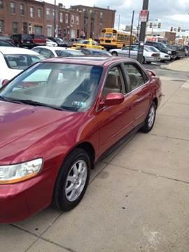 2002 Honda Accord for sale at K J AUTO SALES in Philadelphia PA