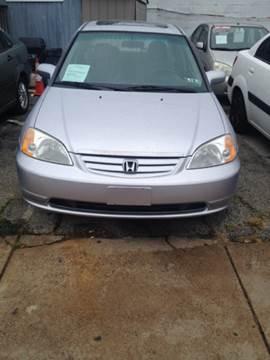 2002 Honda Civic for sale at K J AUTO SALES in Philadelphia PA