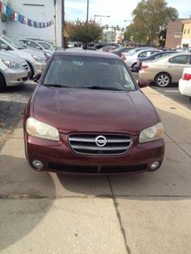 2002 Nissan Maxima for sale at K J AUTO SALES in Philadelphia PA