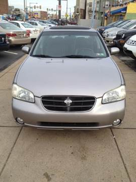 2001 Nissan Maxima for sale at K J AUTO SALES in Philadelphia PA