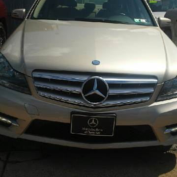 2012 Mercedes-Benz C-Class for sale at K J AUTO SALES in Philadelphia PA