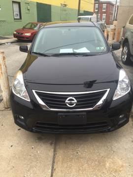 2013 Nissan Versa for sale at K J AUTO SALES in Philadelphia PA