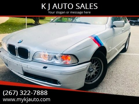 2001 BMW 5 Series for sale at K J AUTO SALES in Philadelphia PA