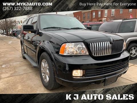 2006 Lincoln Navigator for sale at K J AUTO SALES in Philadelphia PA
