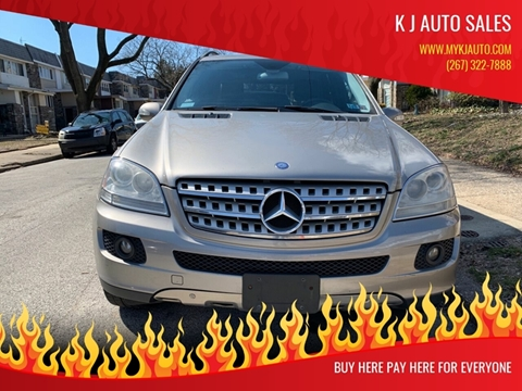 2006 Mercedes-Benz M-Class for sale at K J AUTO SALES in Philadelphia PA