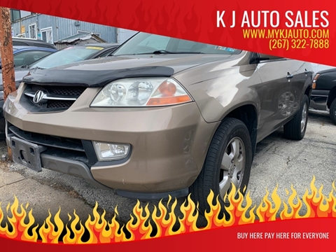2003 Acura MDX for sale at K J AUTO SALES in Philadelphia PA