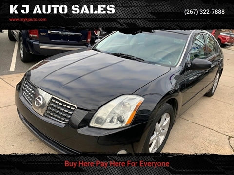 2005 Nissan Maxima for sale at K J AUTO SALES in Philadelphia PA