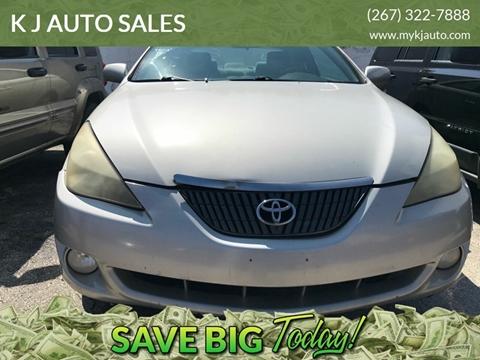 2004 Toyota Camry Solara for sale at K J AUTO SALES in Philadelphia PA