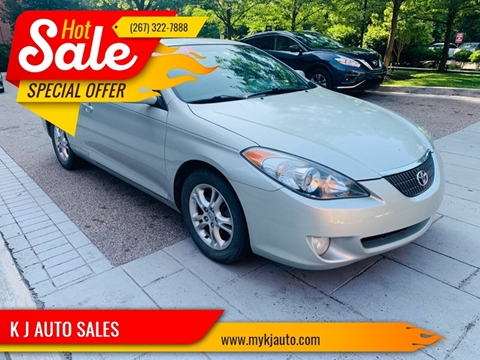 2006 Toyota Camry Solara for sale at K J AUTO SALES in Philadelphia PA