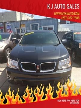 2008 Pontiac Torrent for sale at K J AUTO SALES in Philadelphia PA