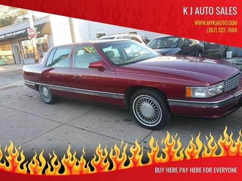 1995 Cadillac DeVille for sale at K J AUTO SALES in Philadelphia PA