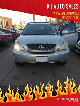 2004 Lexus RX 330 for sale at K J AUTO SALES in Philadelphia PA