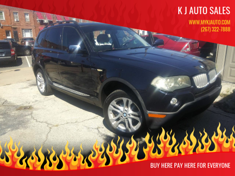 2008 BMW X3 for sale at K J AUTO SALES in Philadelphia PA