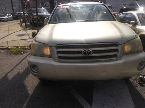 2003 Toyota Highlander for sale at K J AUTO SALES in Philadelphia PA