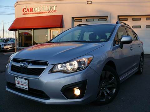 2013 Subaru Impreza for sale at MY CAR OUTLET in Mount Crawford VA