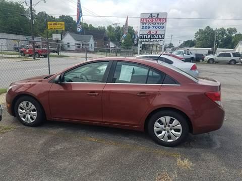 2012 Chevrolet Cruze for sale at A-1 Auto Sales in Anderson SC