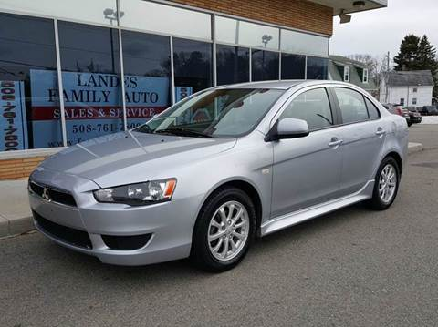 2012 Mitsubishi Lancer for sale at Landes Family Auto Sales in Attleboro MA