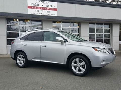 2011 Lexus RX 350 for sale at Landes Family Auto Sales in Attleboro MA