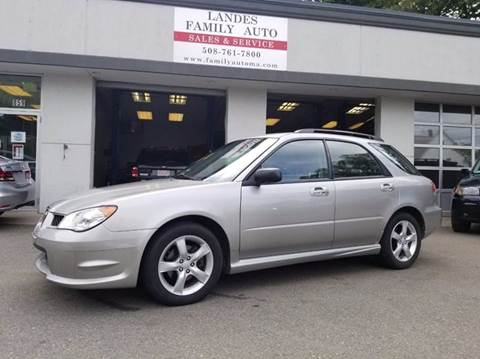 2007 Subaru Impreza for sale at Landes Family Auto Sales in Attleboro MA