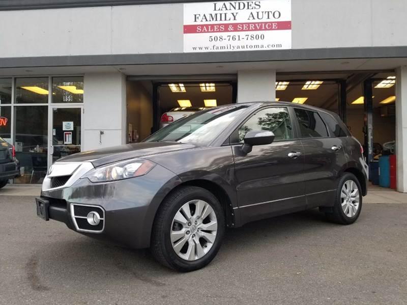 2010 Acura RDX for sale at Landes Family Auto Sales in Attleboro MA