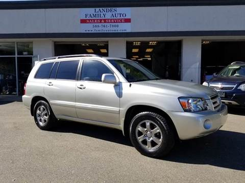 2007 Toyota Highlander for sale at Landes Family Auto Sales in Attleboro MA