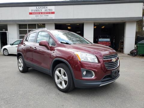 2016 Chevrolet Trax for sale at Landes Family Auto Sales in Attleboro MA