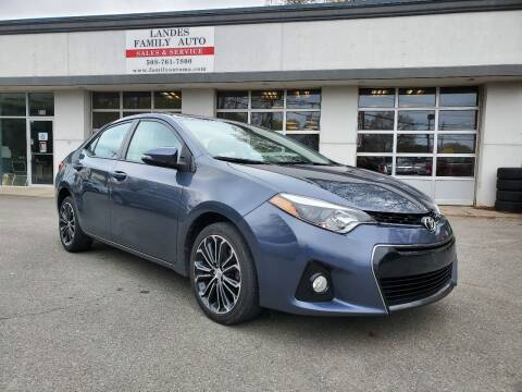 2014 Toyota Corolla for sale at Landes Family Auto Sales in Attleboro MA