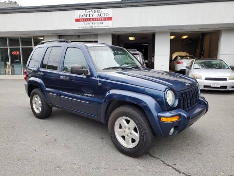 2004 Jeep Liberty for sale at Landes Family Auto Sales in Attleboro MA