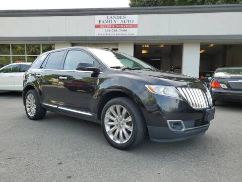 2012 Lincoln MKX for sale at Landes Family Auto Sales in Attleboro MA