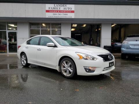2013 Nissan Altima for sale at Landes Family Auto Sales in Attleboro MA