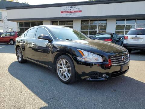 2009 Nissan Maxima for sale at Landes Family Auto Sales in Attleboro MA