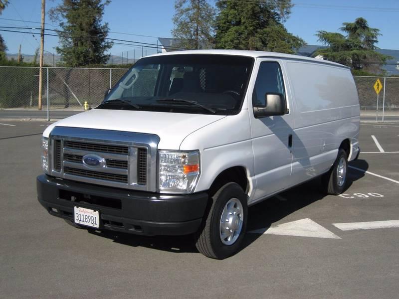 2010 FORD E-SERIES CARGO E 150 3DR CARGO VAN white 2010 ford e150 cargo van 3d v8 46 liter  aut