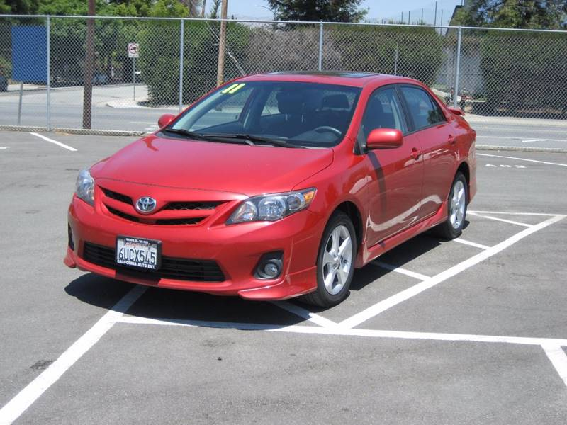 2011 TOYOTA COROLLA S 4DR SEDAN 4A red 2011 toyota corolla s sedan 4d 4-cyl 18 liter  automatic