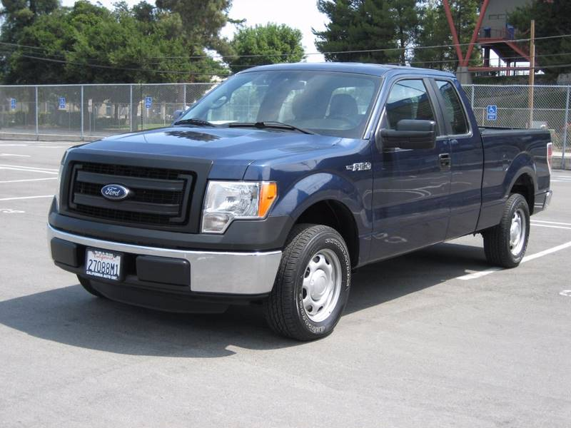 2013 FORD F-150 XL 4X2 4DR SUPERCAB STYLESIDE 6 blue 2013 ford f150 super cab xl pickup 4d 6 12