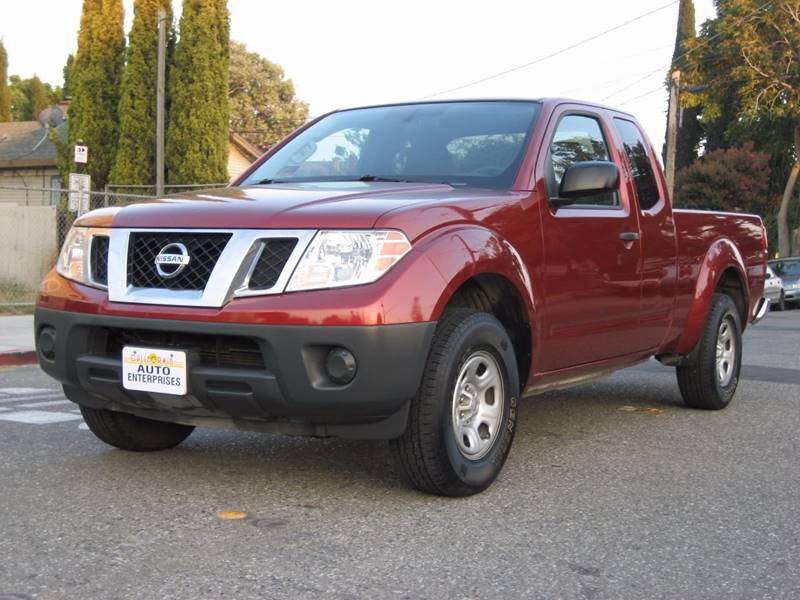 2015 NISSAN FRONTIER S 4X2 4DR KING CAB 61 FT SB PI maroon 2015 nissan frontier king cab s pick